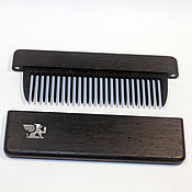 Сувениры и подарки handmade. Livemaster - original item Wooden comb from wenge in case with Inc pearl Griffin. Handmade.