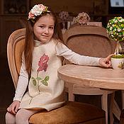 Работы для детей, ручной работы. Ярмарка Мастеров - ручная работа Платье валяное Имя Роза. Handmade.
