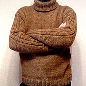 Одежда handmade. Livemaster - original item LACONIC men`s knitted sweater. Handmade.