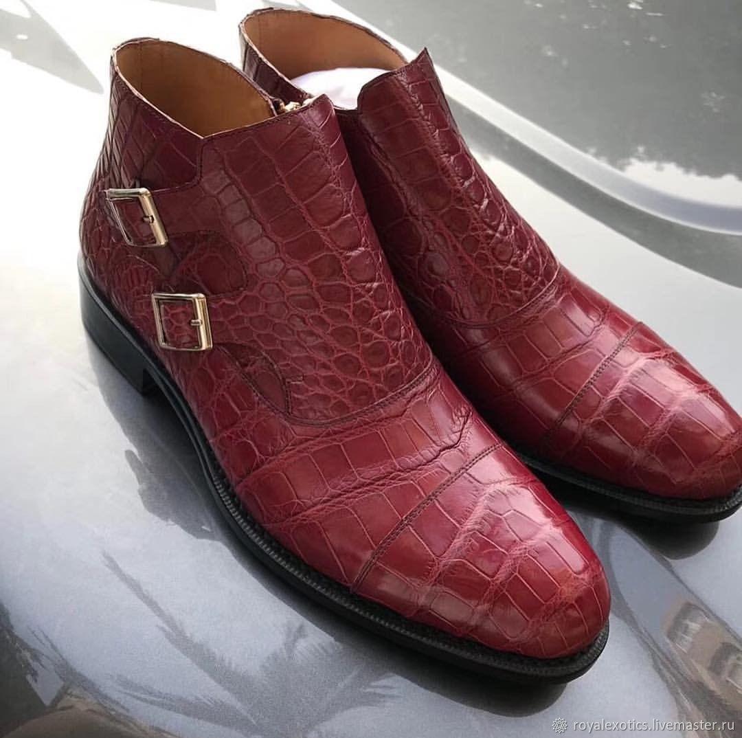 Полусапожки из кожи крокодила, премиум класса, Ботинки, Тосно,  Фото №1