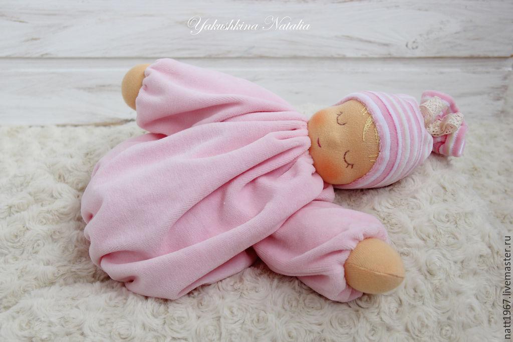 Scops owl 'Pink cloud' - Waldorf doll, Waldorf Dolls & Animals, Samara,  Фото №1