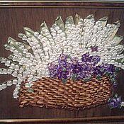 Картины и панно ручной работы. Ярмарка Мастеров - ручная работа Корзина ландышей. Handmade.