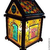 Для дома и интерьера handmade. Livemaster - original item Stained glass lamp in the nursery Multiskin house. Handmade.