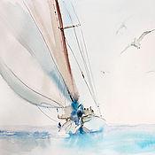 Картины и панно ручной работы. Ярмарка Мастеров - ручная работа Fly in the sea. Handmade.