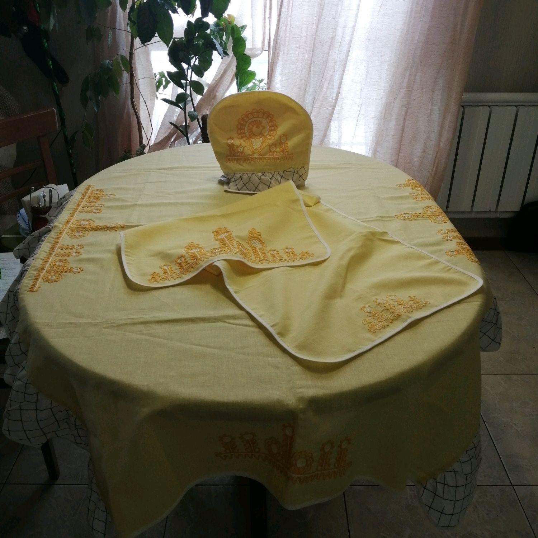 Винтаж: Комплект для кухни, вышивка, винтаж – купить на Ярмарке Мастеров – NY8NIRU | Предметы интерьера винтажные, Кондопога