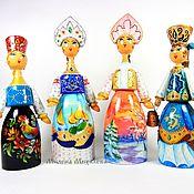 Русский стиль handmade. Livemaster - original item Russian beauty, рainted dolls, russian souvenir. Handmade.