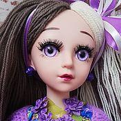 Шарнирная кукла ручной работы. Ярмарка Мастеров - ручная работа Шарнирная кукла: Виолетта.. Handmade.