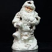 Винтаж handmade. Livemaster - original item Christmas porcelain candle holder Santa. Handmade.