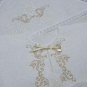 Работы для детей, handmade. Livemaster - original item Baptismal linen set with embroidery. art.005. Handmade.