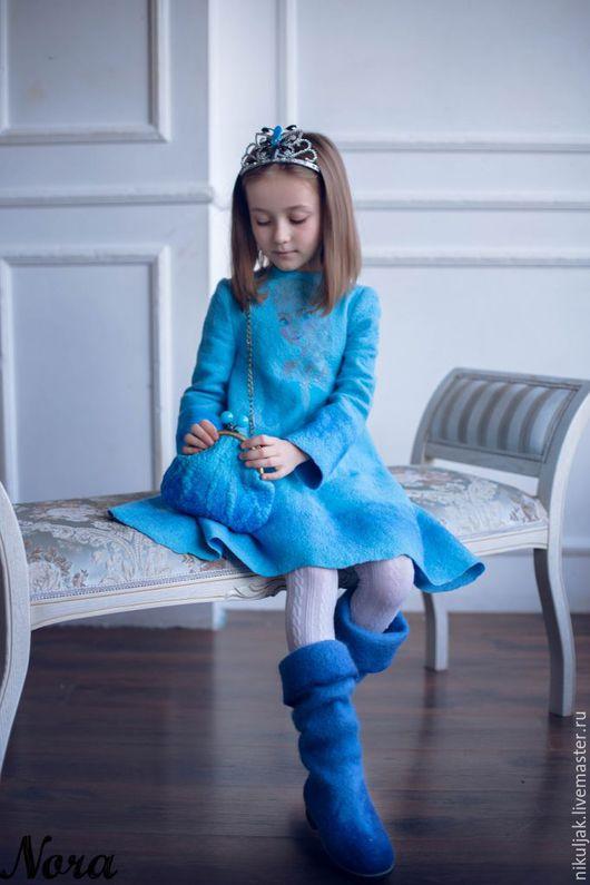 Одежда для девочек, ручной работы. Платье валяное Эльза. Холодное сердце. Nora (Nikuljak). Ярмарка Мастеров. Платье нарядное