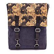 Сумки и аксессуары manualidades. Livemaster - hecho a mano Eco mochila mujer de madera natural con flores hechas a mano. Handmade.