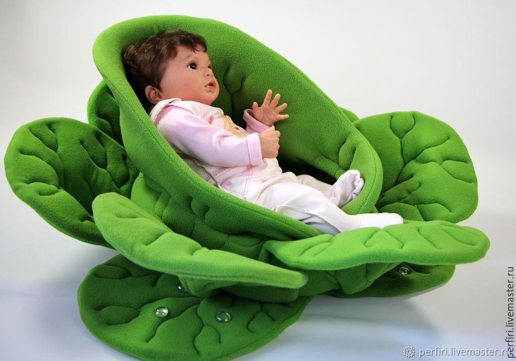 The cradle chair for doll Cabbage, Doll furniture, St. Petersburg,  Фото №1