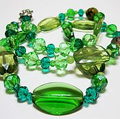 Украшения handmade. Livemaster - original item necklace Green freshness. Handmade.