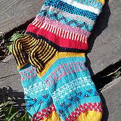 Аксессуары ручной работы. Ярмарка Мастеров - ручная работа жаккардовые носки. Handmade.