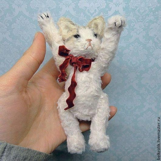 Мишки Тедди ручной работы. Ярмарка Мастеров - ручная работа. Купить Тедди кошка Липа. Handmade. Кремовый, коллекционная игрушка