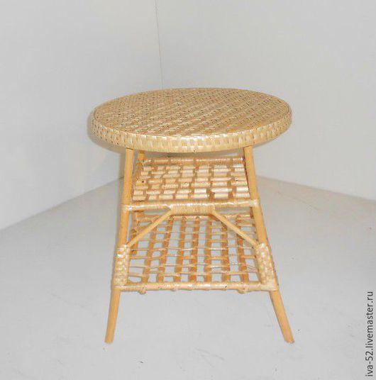 Мебель ручной работы. Ярмарка Мастеров - ручная работа. Купить Стол круглый, плетеный из лозы.. Handmade. Стол, лоза, дом