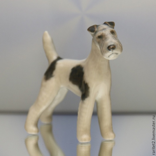 Винтажные предметы интерьера. Ярмарка Мастеров - ручная работа. Купить Собака терьер фарфор Дания клеймо 20. Handmade. Разноцветный