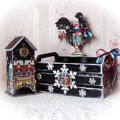 Для дома и интерьера handmade. Livemaster - original item Box for sweets and Mandarin with cock