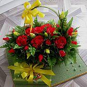 Цветы и флористика ручной работы. Ярмарка Мастеров - ручная работа Сладкая сумочка с примером упаковки дополнительного подарка. Handmade.