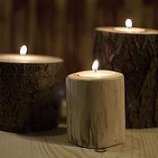 Для дома и интерьера ручной работы. Ярмарка Мастеров - ручная работа Подсвечники деревянные из пеньков. Handmade.