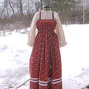 Одежда ручной работы. Ярмарка Мастеров - ручная работа Сарафан с рубахой. Традиционный женский костюм.. Handmade.