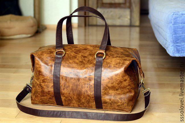 9e025bb22447 Спортивные сумки ручной работы. Ярмарка Мастеров - ручная работа. Купить  Дорожная кожаная сумка.
