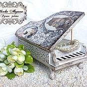 Для дома и интерьера handmade. Livemaster - original item Gift music box piano. Handmade.