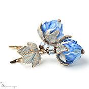 Украшения handmade. Livemaster - original item Earrings classic: Blue glow. Handmade.