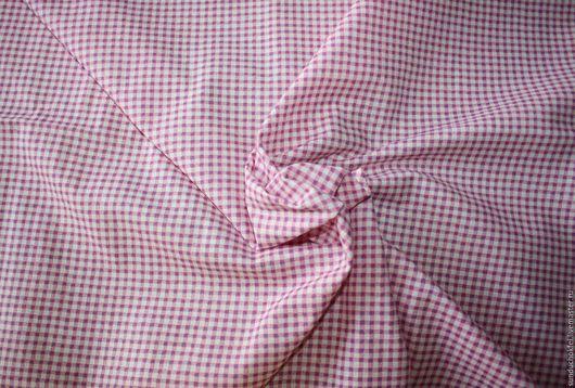 """Шитье ручной работы. Ярмарка Мастеров - ручная работа. Купить Хлопок """"Клетка ВИШИ розовая"""". Handmade. Розовый, хлопок для игрушек"""