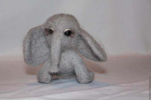 Куклы и игрушки ручной работы. Ярмарка Мастеров - ручная работа. Купить Слонёнок Боня. Handmade. Серый, милая игрушка