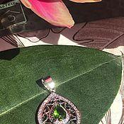 handmade. Livemaster - original item Pendant sterling silver pendant 925 with peridot, Holland. Handmade.