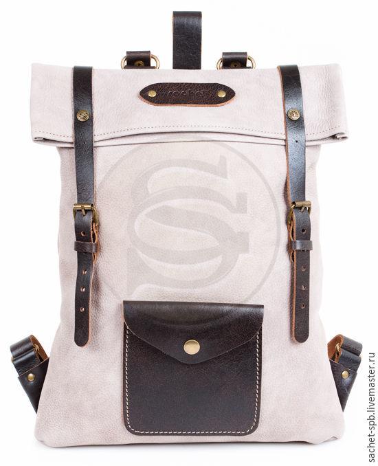 Backpack leather sand Vogue, Backpacks, St. Petersburg,  Фото №1