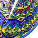 """Часы для дома ручной работы. Часы настенные """"Узбекские узоры"""". Штина Алёна (alenushkashtina). Интернет-магазин Ярмарка Мастеров. Часы"""