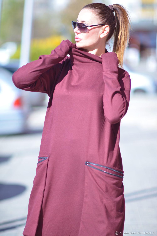 Fuchsia dress with original back - DR0158PM, Dresses, Sofia,  Фото №1