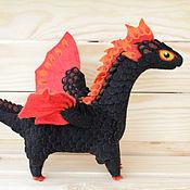 Куклы и игрушки ручной работы. Ярмарка Мастеров - ручная работа Огненный дракон Уголь. Handmade.