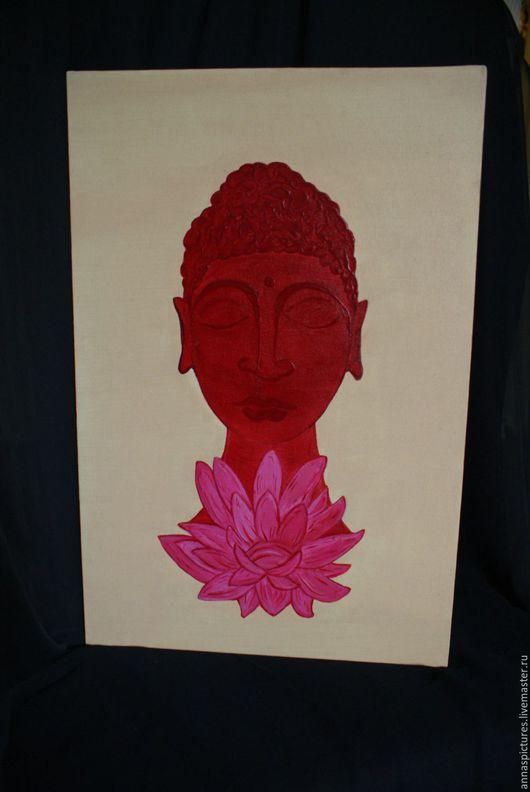 Люди, ручной работы. Ярмарка Мастеров - ручная работа. Купить Будда. Handmade. Будда, холст, акрил