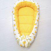 Кокон-гнездо ручной работы. Ярмарка Мастеров - ручная работа Кокон-гнёздышко для новорожденного. Handmade.