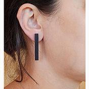 Украшения handmade. Livemaster - original item Stylish rectangular earrings. Handmade.