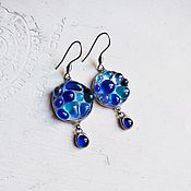 Украшения handmade. Livemaster - original item Earrings with a pendant from the COLOR DROPS collection. Handmade.