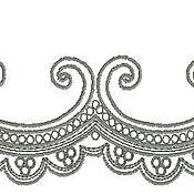 Дизайн и реклама ручной работы. Ярмарка Мастеров - ручная работа фестон  орнамент дизайн для машинной вышивки. Handmade.