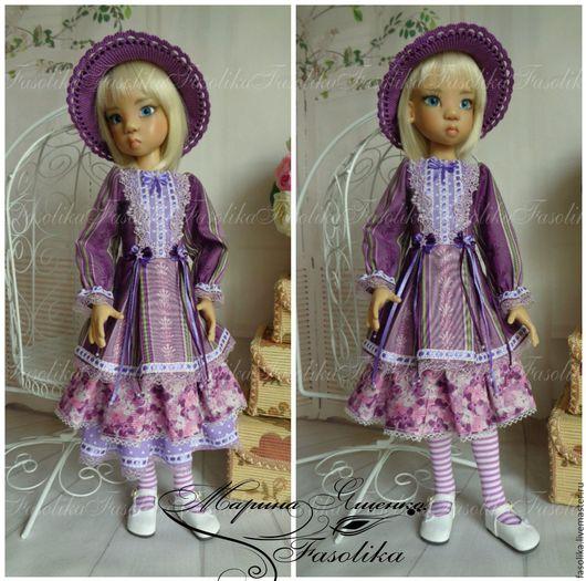 Одежда для кукол ручной работы. Ярмарка Мастеров - ручная работа. Купить Нарядное платье 10. Одежда для куклы БЖД.. Handmade.
