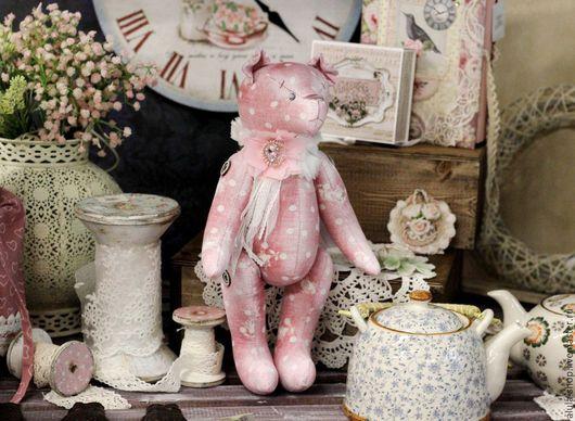 """Мишки Тедди ручной работы. Ярмарка Мастеров - ручная работа. Купить Мишка """"Рози"""". Handmade. Розовый, подарок девочке"""