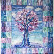 """Для дома и интерьера ручной работы. Ярмарка Мастеров - ручная работа Плед детский """"Розовое дерево"""" войлок. Handmade."""