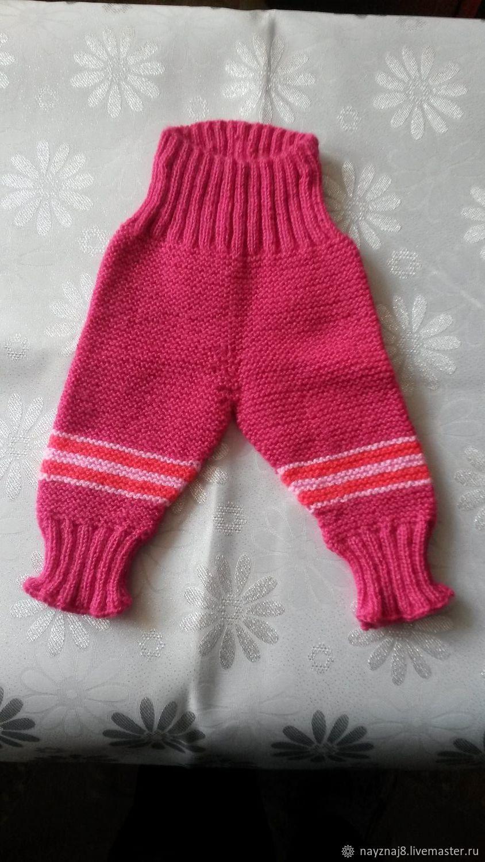 Теплый вязаный костюм для новорожденной девочки