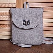 Сумки и аксессуары handmade. Livemaster - original item Felted backpack Beige Onyx. Handmade.