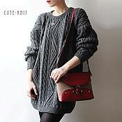 Одежда handmade. Livemaster - original item Sweater grey wide and long. Handmade.