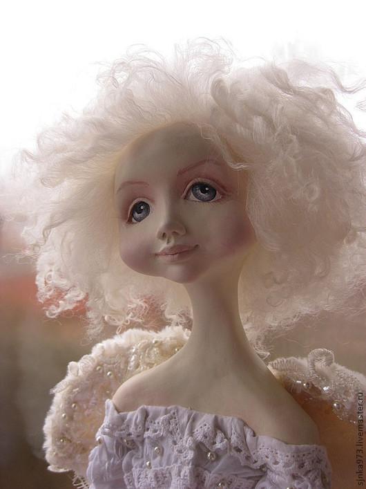Коллекционные куклы ручной работы. Ярмарка Мастеров - ручная работа. Купить Ангелочек. Handmade. Кремовый, ангелочек, оригинальный подарок, Паперклей