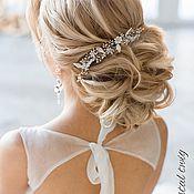 Свадебный салон handmade. Livemaster - original item The twig in the hair of the bride white. Handmade.