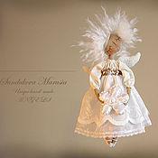 """Куклы и игрушки ручной работы. Ярмарка Мастеров - ручная работа """"Ангел с ромашкой"""" - авторская кофейная куколка. Handmade."""