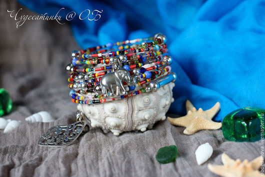 """Браслеты ручной работы. Ярмарка Мастеров - ручная работа. Купить """"У моря, у синего моря..."""" (с) браслет. Handmade."""